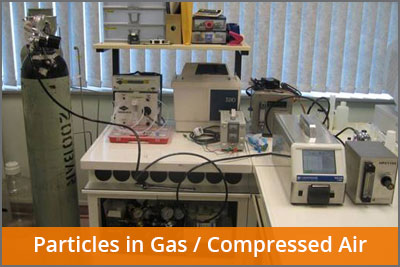 particles in gas compressed air