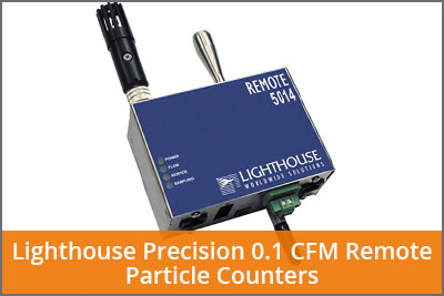 0.1 cfm remote particle counters