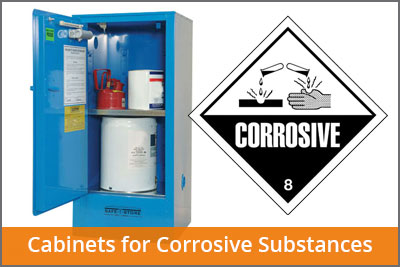 corrosive substances cabinets