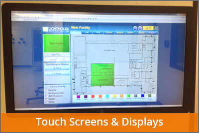 touch screens & displays