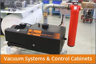 vacuum systems and control cabinets