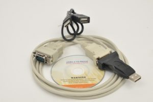 RS 232 cable with USB adapter