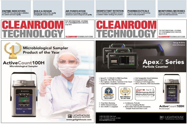Cleanroom Technology Magazine Features Lighthouse Products