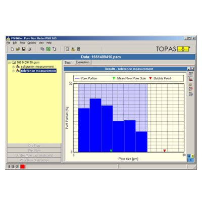 PSMWin Software for pore analysis