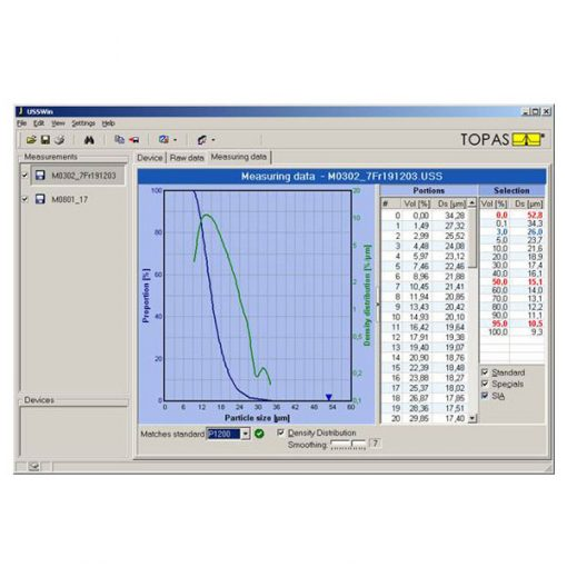 WSSWin software for US-Sedimentometer