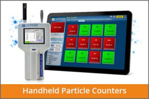 laftech handheld particle counters
